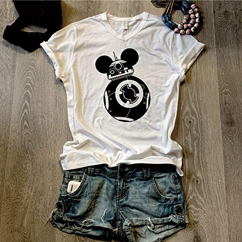 Mickey'BB8' / Disney/Star Wars/V Neck Shirt/Unisex Fit/V Neck/Alternative Apparel/Free Shipping/Adult Unisex Fit /