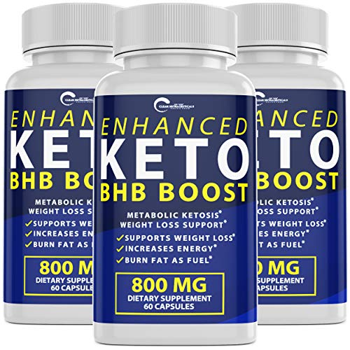 Enhanced Keto BHB Boost Pills, 800mg for Weight Loss, Keto BHB Pills for Energy, Focus, Metabolism Boost - Premium Advanced Powder Exogenous Ketones for Rapid Ketosis Diet for Men Women (1-Pack) 4