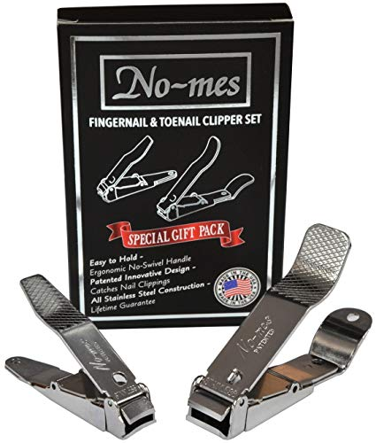 No-Mes Fingernail and Toenail Clipper Gift Set, Catches Clippings, Made in USA