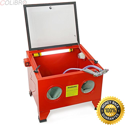 COLIBROX--25 GAL BENCH TOP SANDBLASTER CABINET SANDBLAST SMALL PARTS HEAVY DUTY BLASTER HD. benchtop blast cabinet reviews. harbor freight benchtop blast cabinet. sand blasting cabinet reviews.