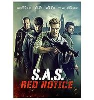 SAS:レッドノーティスホットクラシックムービーカバーウォールアートキャンバスプリントポスター画像リビングルーム家の装飾ギフト-50x75cmフレームなし