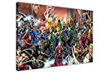 Pop-Art-Leinwand / Wandbild, Justice League Saga DC Comics