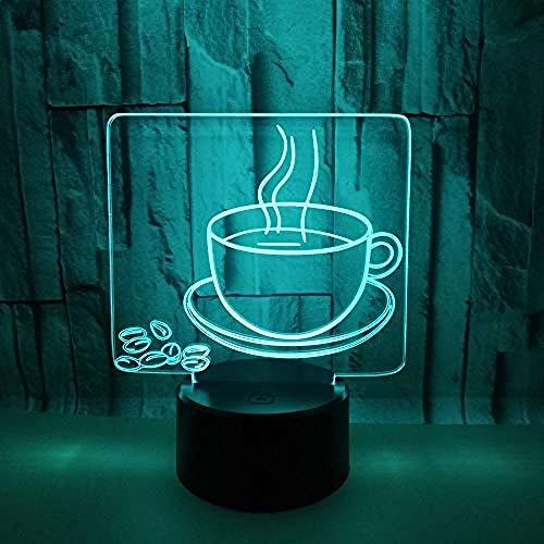 3D Kaffee Becher Nacht Licht LED Lampen Tolle 7 Farbwechsel Berühren Tabelle Schreibtisch USB-Kabel für Kinder Schlafzimmer Geburtstagsgeschenke
