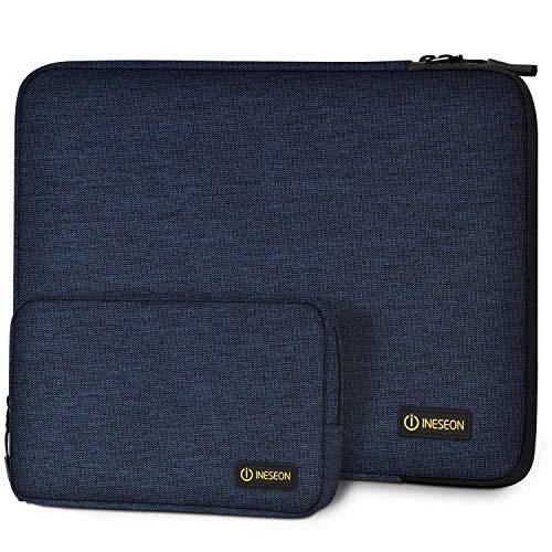 I INESEON 13,3 Pollici Custodia per 2010-2017 MacBook Air 13, 2012-2015 MacBook PRO 13 Retina, 13,5 Surface Laptop 2/3 Sleeve Laptop Notebook Cover con Borsa Accessori, Blu Scuro