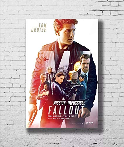 qianyuhe Wall Art Pictures Posters and Prints Mission Impossible - Fallout 2018 Movie Tom Cruise Art Poster Canvas Painting Home Decor 60x90cm(24x36inch