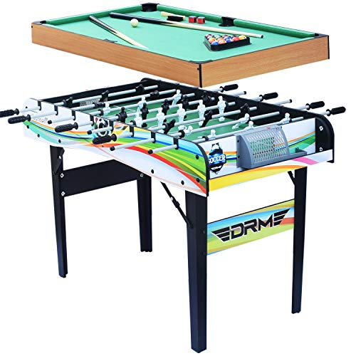 ALPIKA 2 in 1 Steady Multi Games Table, 5 Minute Quick Assembly Billiards Table, Football Table...