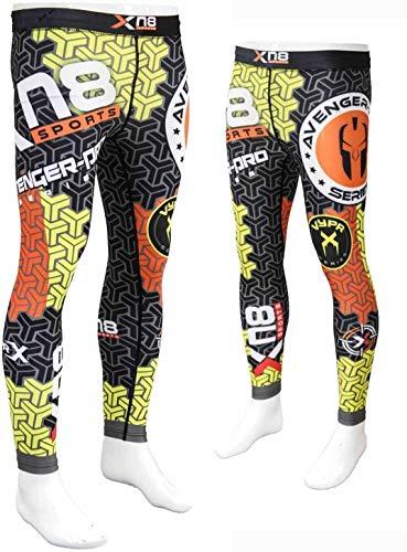 Xn8 - Pantaloni Sportivi da Uomo, a Compressione, per Palestra, Boxe, UFC, Taglia XL (96-104 cm)