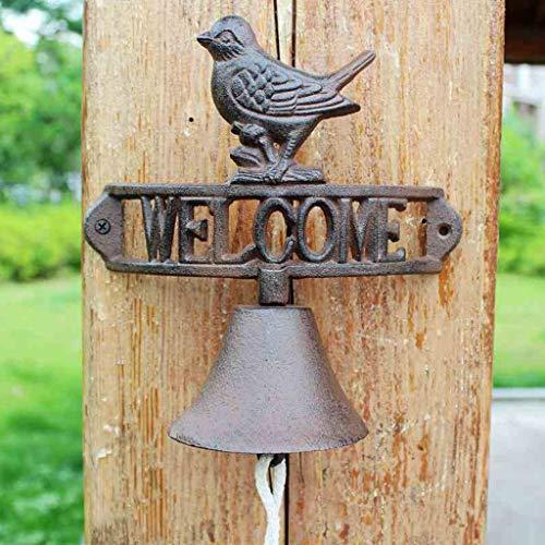 CQ Europäischen amerikanischen industriellen Stil Retro gusseisen Vogel Hand schaukel türklingel schmiedeeisen Glocke Garten Hause wandbehang Dekorationen