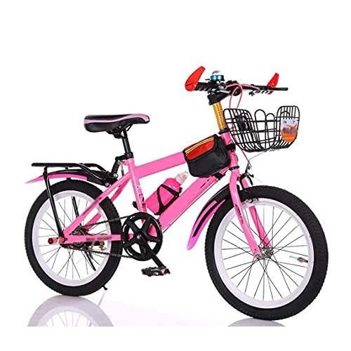 HUAQINEI Bicicletas para niños Bicicletas de montaña de 20/22 Pulgadas Bicicletas Deportivas al Aire Libre para niños y niñas Bicicletas de Pedales de una Sola Velocidad, Blanco, 20