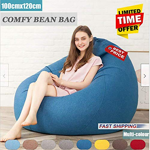 SANNOBEL Extra Large Bean Bag Chair Sofa Cover Indoor/Outdoor Game Seat BeanBag Adult