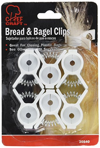 Chef Craft Bread & Bagel Clips 6-Count per Pack (1-Pack)
