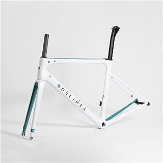 PPLAS Cadre de vélo en carbone blanc 2020 pour vélo de route (couleur : 3, taille : frein de jante)