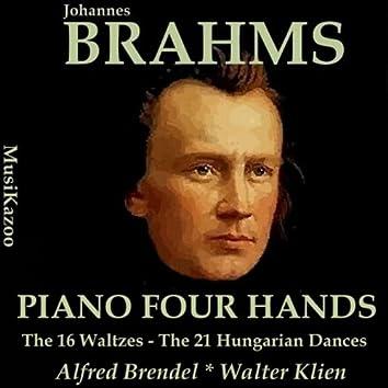 Brahms, Vol. 11 : Piano Four Hands