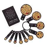 Nardo Visgo® 10-Piece ispessito ABS plastica misurini / Coppe Set - essenziali strumenti di misura per misura Dry & Ingredienti liquido nero