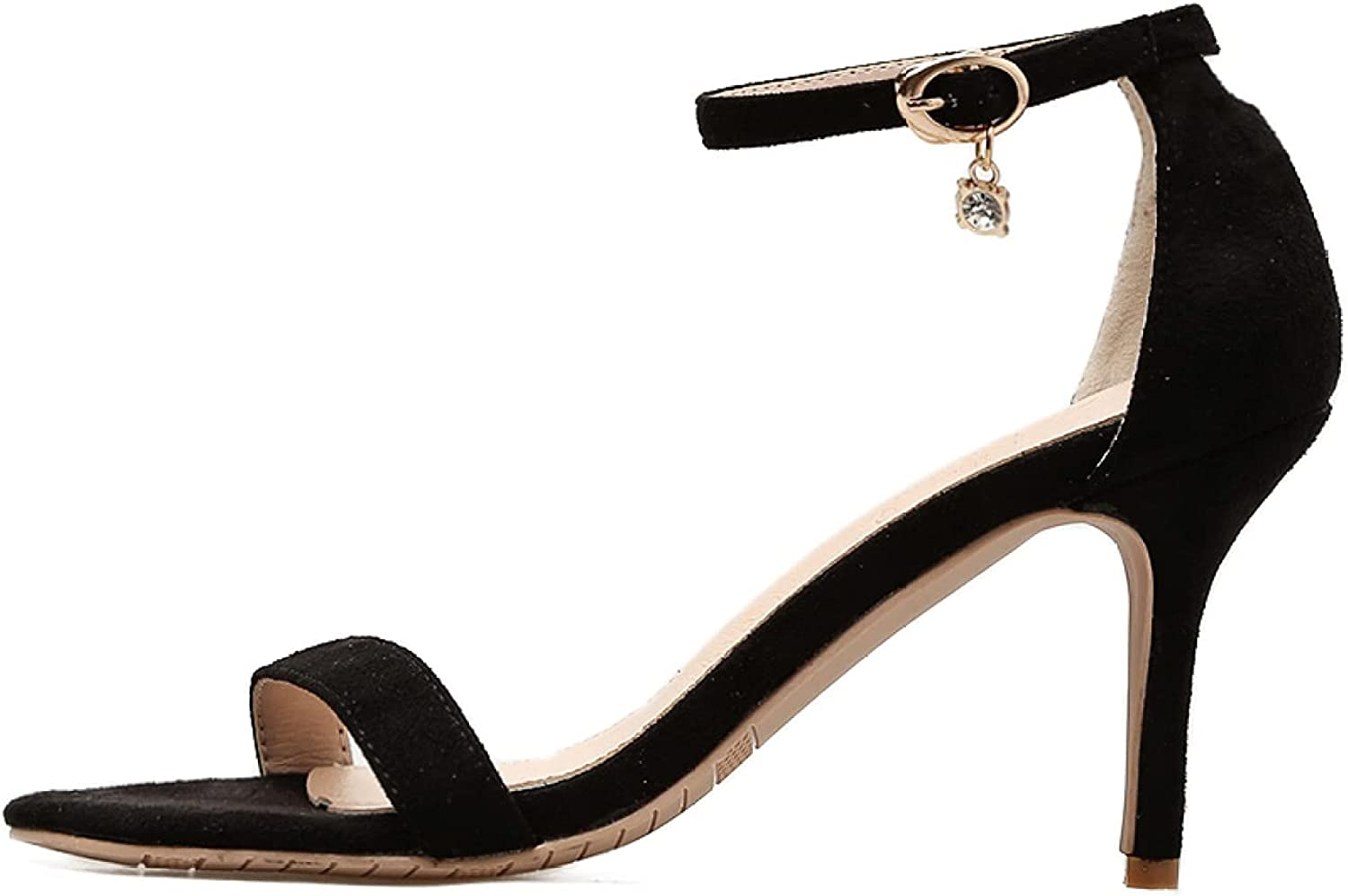 Summer Classic High order safety Heel Sandal Stilettos Ankle Strap Open Toe Buckle