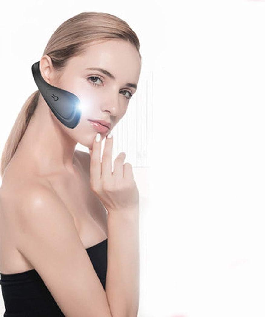 協定前奏曲思慮のないLquideフェイスリフティングベルトアーティファクトV顔包帯下顎頬骨咬筋矯正顔シリコーン電気美容機器