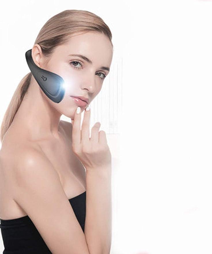 ホールド中断警告するLquideフェイスリフティングベルトアーティファクトV顔包帯下顎頬骨咬筋矯正顔シリコーン電気美容機器