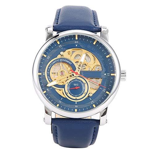 Reloj de Pulsera Mecánico Automático para Hombre, Reloj Mecánico Automático para Hombre, Reloj de Pulsera Impermeable con Hueco