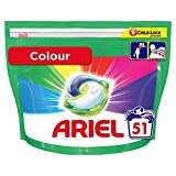 Ariel Pods All-in-One Washing Liquid Laundry Detergent Tablets/Capsules Colour, 51 Washes