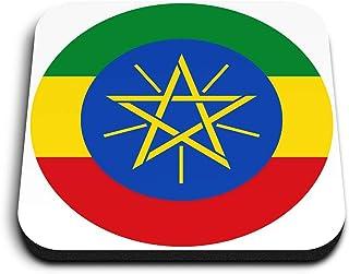 Aimants carrés en MDF Destination Vinyle Ltd - Éthiopie Africain Addis-Abeba pour bureau, armoire et tableau blanc, autoco...