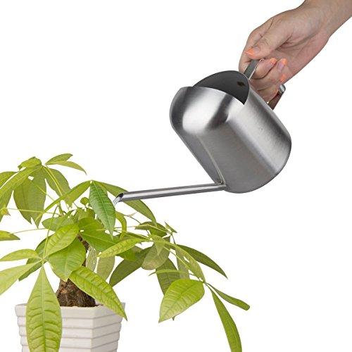 500 ml Premium solide en acier inoxydable brossé Arrosoir Jardin Bureau Plante Fleur Bureau Pot de fleurs