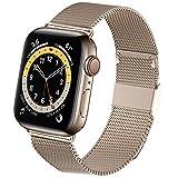 Jinlida kompatibel mit Apple Watch Armband,Flexible atmungsaktive rostfreie Schlaufenersatzbänder...