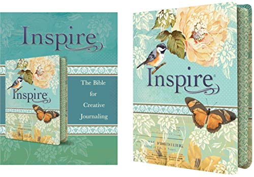 Tyndale NLT Inspire Bible, The Bible for Creative Journaling, Vintage Blue/Cream