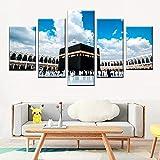Pared de arte moderno 5pc set pétalos de colores HD impresión pintura lienzo sala de estar arte cartel decoración imagen 150cm x 80cm sin marco