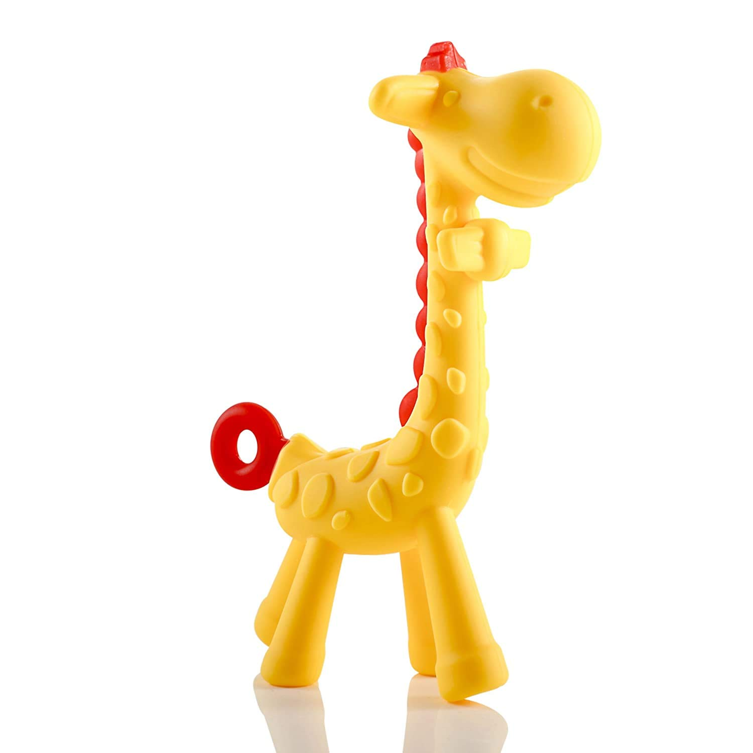 Girls Toddlers Freezable and Dishwasher-Safe Babies Newborn Infant Teething Relief Giraffe Baby Teether Toy Natural /& Organic BPA-Free Silicone Cute Chew Toys for Boys Yellow MAD