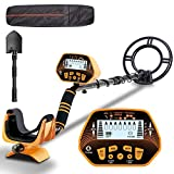 Metal Detector - SUNPOW High Accuracy Metal Detector for Adults & Kids, LCD Display with Adjustable Light, Pinpoint Function & DISC Mode, 10 Inch Waterproof Search Coil, Multiple Audio Prompts