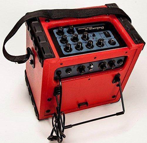 KEYTONE Deluxe 20 Gitarrenverstärker Verstärker für E-Gitarre und Mikrofon Übungsverstärker Mini-Amp