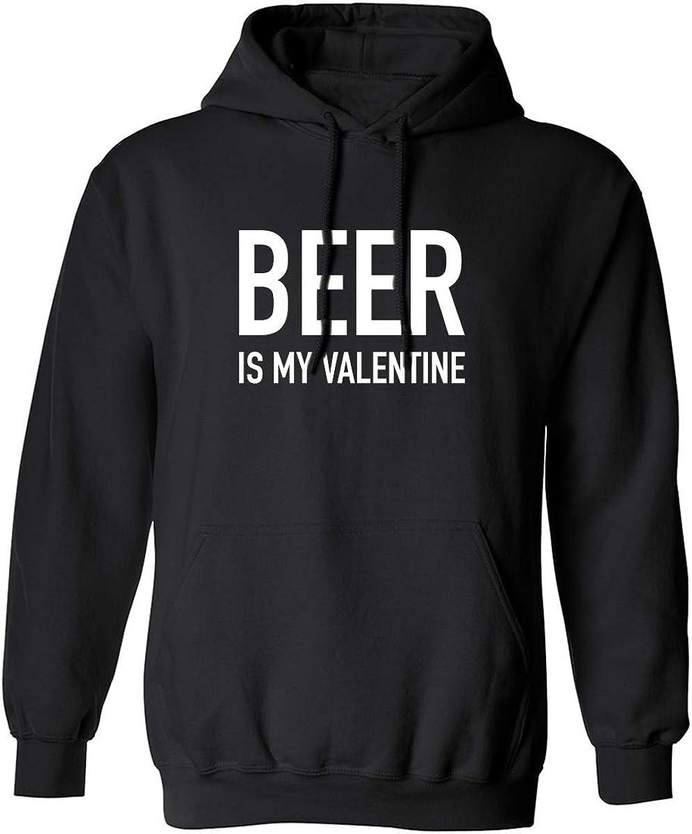 zerogravitee Beer is My Valentine Adult Hooded Sweatshirt