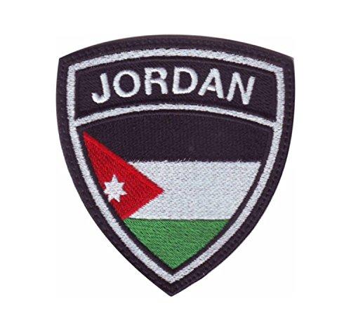 MAREL Patch Flagge Jordanien (Jordan) Aufnäher Patches Stickerei cm 6,5x 5,5