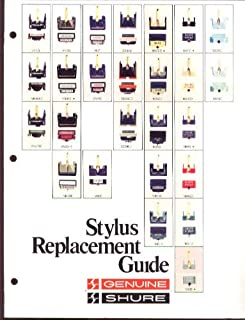 Shure Stylus Replacement Guide folder ca 1980