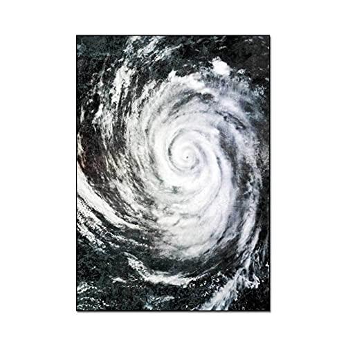 Alfombra decoración del hogar Typhoon Eye Pattern Alfombra Impresa Alfombras Suaves para Sala de Estar Alfombra Antideslizante Alfombra de Piso Decoración del hogar Alfombra de Dormitorio Alfombra