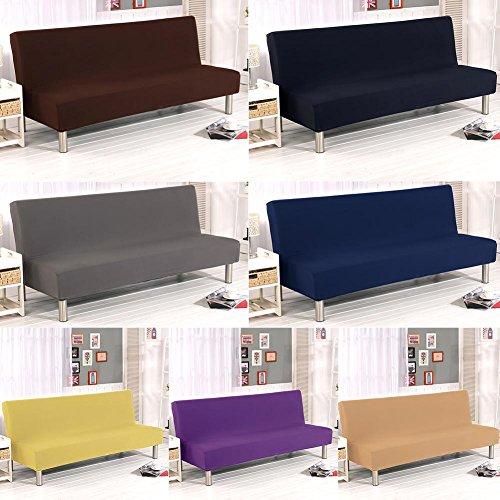Copridivano elasticizzato pieghevole per divano letto, in fibra di poliestere ed elastam, senza braccioli; alla moda, semplice, a tinta unita