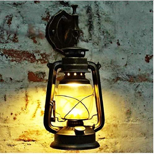 Wand Spotlightsretro Industrielle Wandleuchte Vintage Glas Petroleumlampen E27 Eisen Rost Loft Licht...