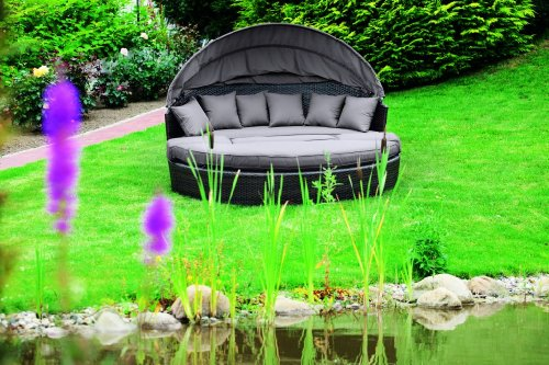 MERXX Relaxinsel mit Sonnenschutz inkl. Hocker und Kissen