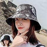 Sombrero De Playa para Nuevas Mujeres Sombrero De Cubo con Estampado De Flores De Doble Cara Gorras De Hip Hop Algodón Plegable Verano Panamá Mujer Sombreros De Pescador Casua