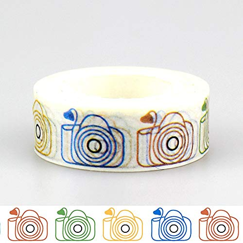 ZXWDL DIY Japans papier Washi linten leuke camera afplakbanden decoratie plakband sticker schrijfwaren 1,5 cm * 10 m