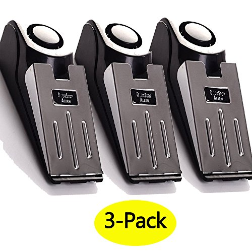 3-Pack Upgraded Door Stop Alarm -Great for Traveling Security Door Stopper Doorstop Safety Tools for Home Set of 3