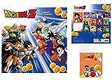 1art1 Dragon Ball, Z Calendario Oficial 2021 (30x30 cm) con 1x Set De Chapas (15x10 cm)