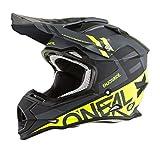 O'Neal 0200-214 unisex-adult off-road style 2SERIES Helmet SPYDE black/hi-viz L, Large