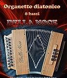 Organizador acordeón diatónico 8 bajos Della Noce Mod. Esmeralda.