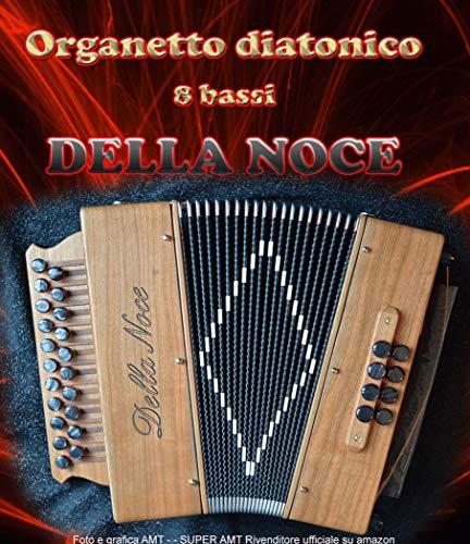 Organetto fisarmonica diatonica 8 bassi Della Noce Mod. Smeraldo