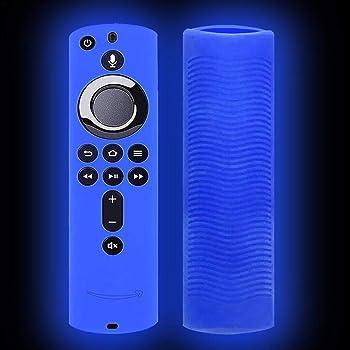 Hydream 2PC Housse Coque en Silicone pour Fire TV Stick T/él/écommande avec Vocale Alexa Violet + Bleu Anti-Slip Antichoc Remote Cover /Étui de Protection pour  Fire TV Stick 4K//Fire TV Cube
