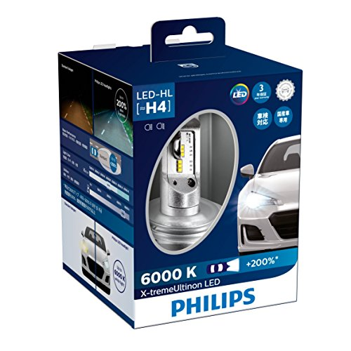 PHILIPS(フィリップス) ヘッドライト LED バルブ H4 6000K 3200/2400lm 12V 23W エクストリームアルティノ...