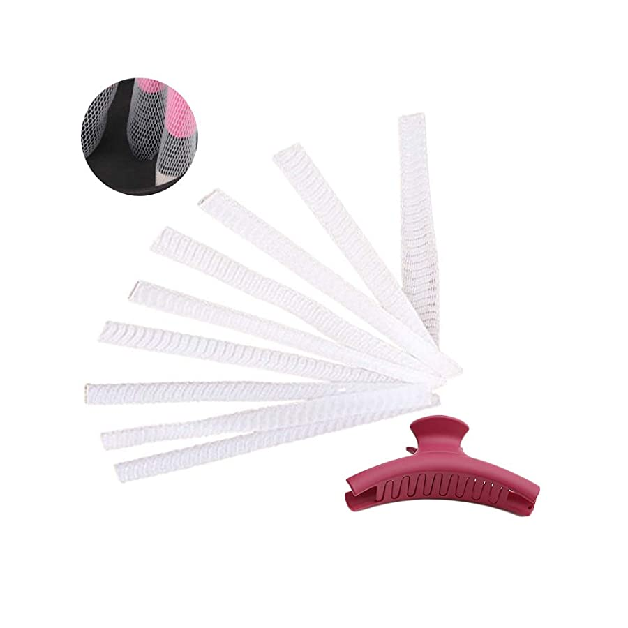 流用する女将医学NUOMI 60個 メイクブラシ用 ネット メッシュカバー メッシュネット 化粧ブラシ ブラシ プロテクターガード PE 弾性力 分岐を防ぐ 防塵 保護 整理 保存 アクセサリー シンプルなヘアクリップ付き ホワイト