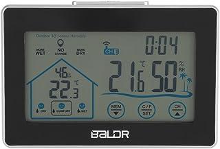 21bffc597 Fdit BALDR Reloj de Pared de Estación Meteorológica Pantalla Táctil LCD  Inalámbrica Higrómetro de Interior Exterior