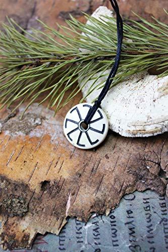 Køløvrat Sunwheel Øld Slavic Gøds unisex Simple bone amulet,Paganism symbol,Celtic heathen,Native Faith Solar Cross,goddess organic talisman